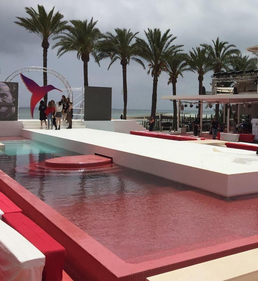 Moqueta Evento piscina Santos Pavimentos
