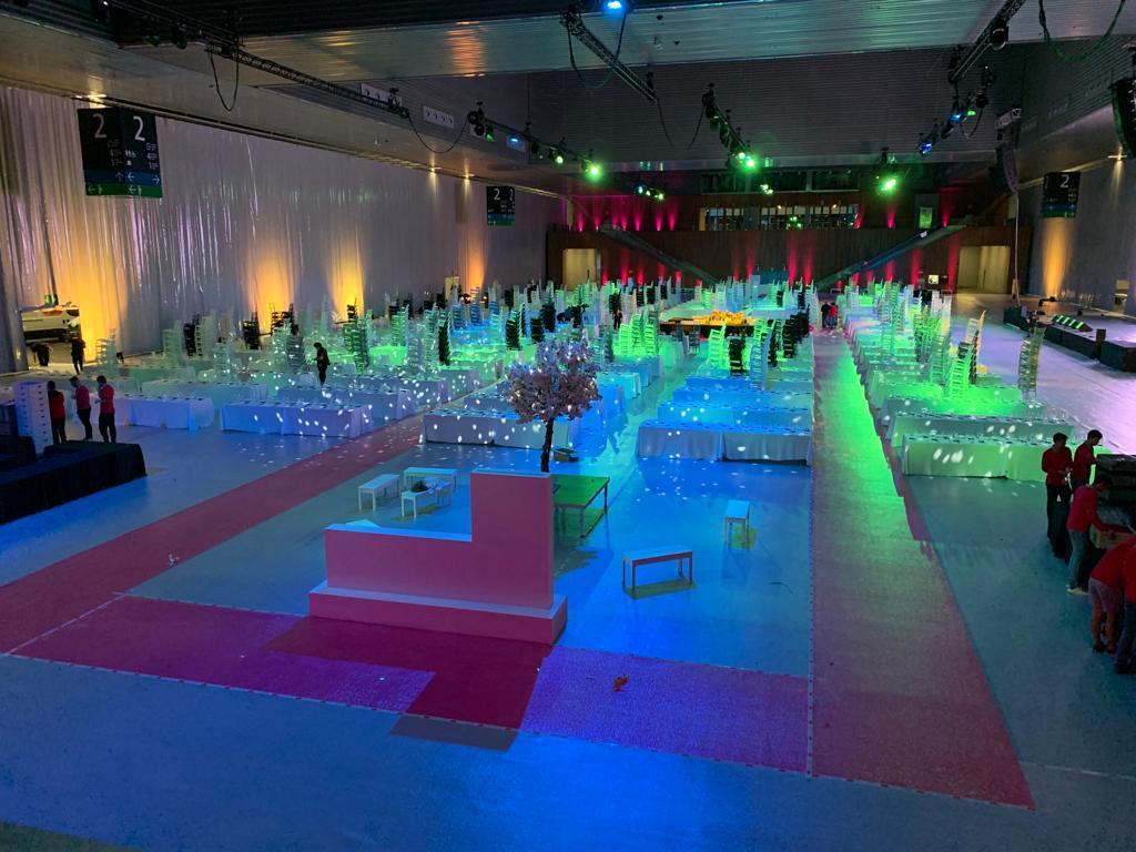 Moqueta en Eventos y Convenciones Santos Pavimentos