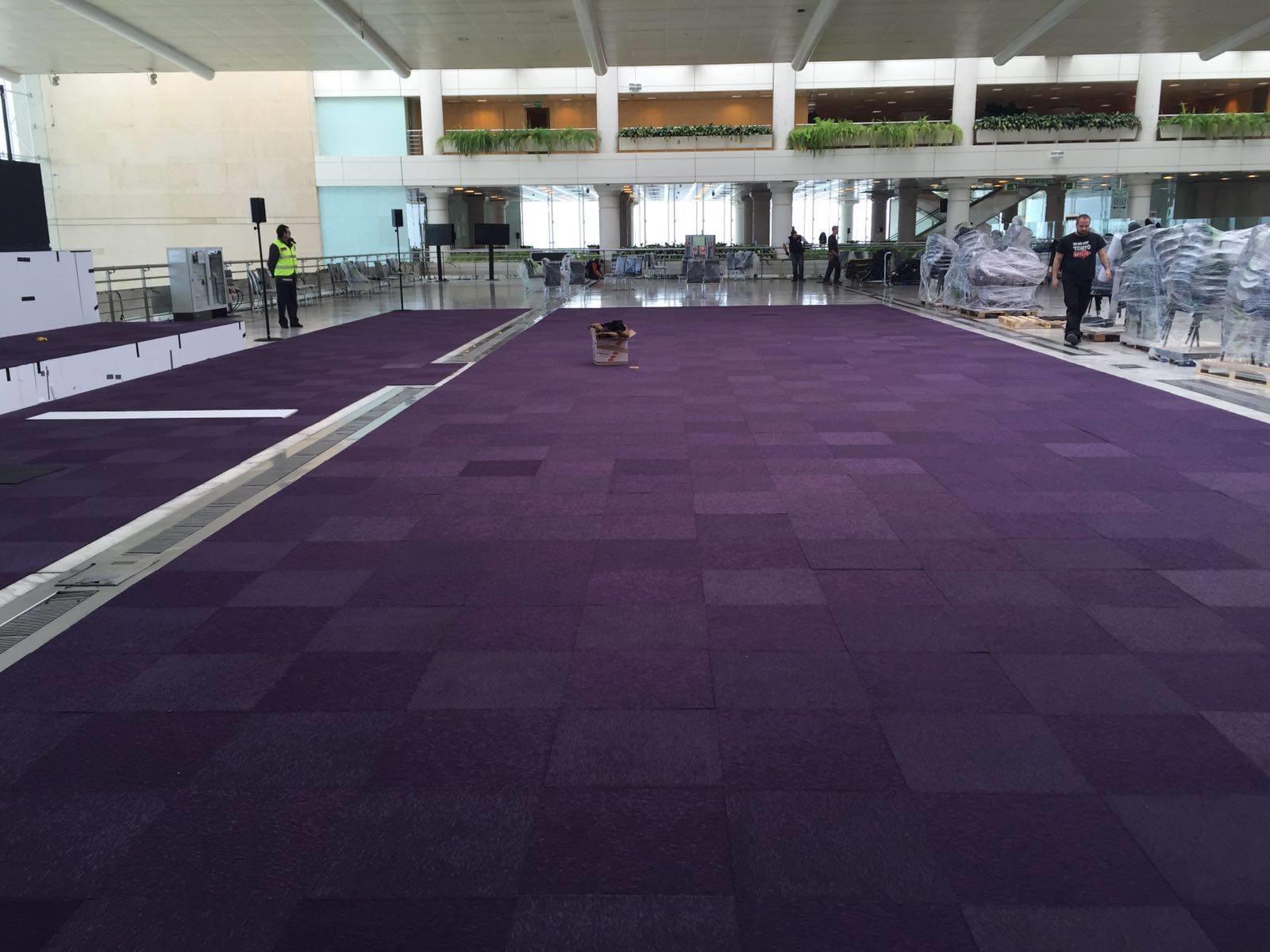Moqueta Loseta en Feria Palacio de Congresos Santos Pavimentos 5