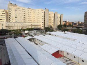 Pavimento Vinilico en Hospital de Campaña Santos Pavimentos Exterior